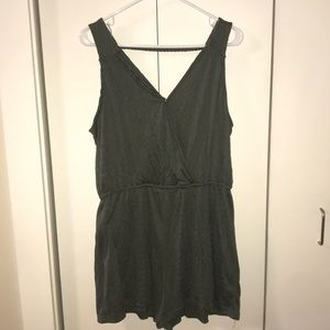 Olive green romper by Universal Thread, size L